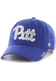 47 Pitt Panthers Womens Blue Sparkle Clean Up Adjustable Hat