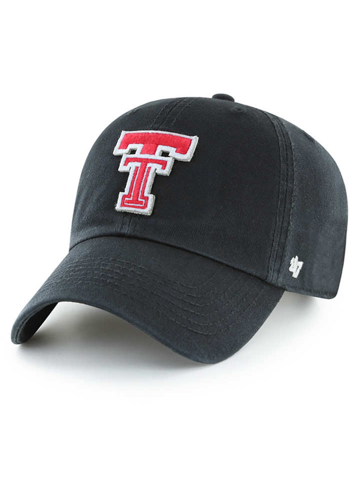 '47 Texas Tech Red Raiders Mens Black Hasket Clean Up Adjustable Hat - Image 1