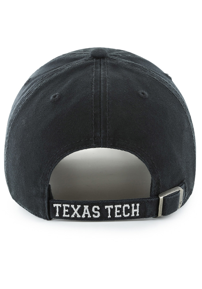 '47 Texas Tech Red Raiders Mens Black Hasket Clean Up Adjustable Hat - Image 2