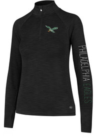 outlet store c8b0a f47d1 '47 Philadelphia Eagles Womens Microlite Shade Black 1/4 Zip Pullover