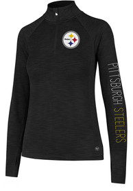 47 Pittsburgh Steelers Womens Microlite Shade Black 1/4 Zip Pullover