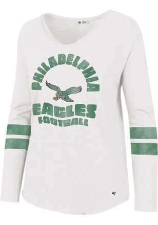 aed97088f Shop Philadelphia Eagles 47 Womens Long Sleeve T-Shirts Apparel