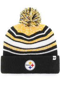 8c7bee7a '47 Pittsburgh Steelers Black Bubbler Cuff Knit Youth Knit Hat