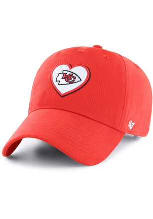 47 Kansas City Chiefs Womens Red Courtney Clean Up Adjustable Hat f319832dfb