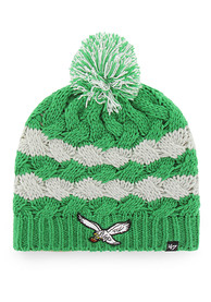 47 Philadelphia Eagles Womens Kelly Green Topsail Beanie Knit Hat