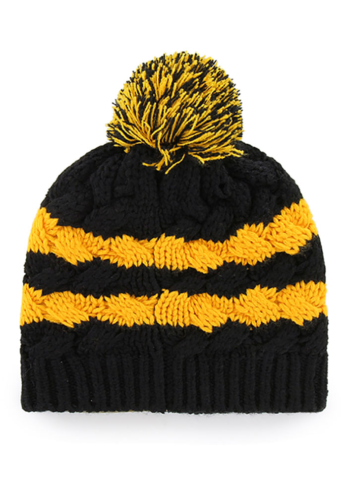 One Size Black NFL Pittsburgh Steelers 47 Beanie Knit Hat