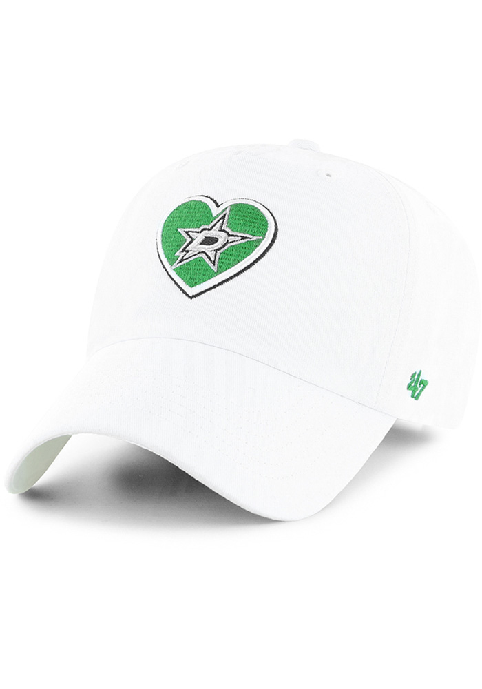 47 Dallas Stars White Courtney Clean Up Womens Adjustable Hat - Image 1