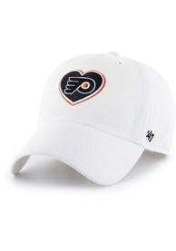 47 Philadelphia Flyers Womens White Courtney Clean Up Adjustable Hat