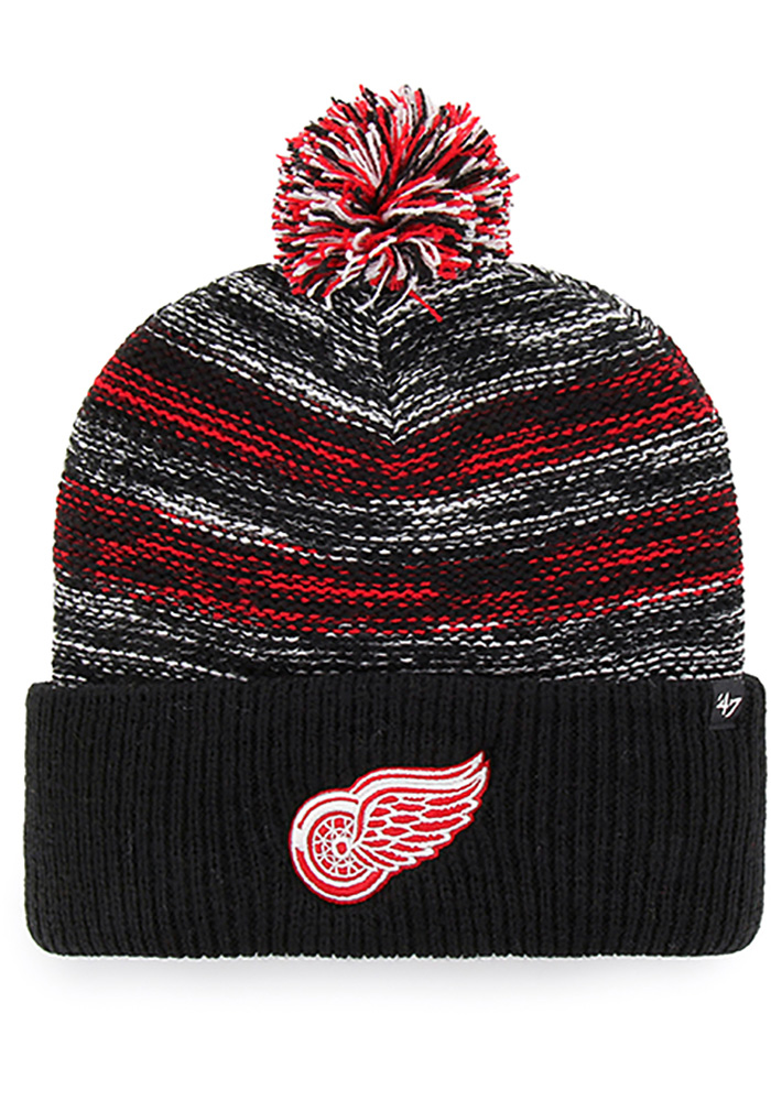 47 Detroit Red Wings Black Sideboard Cuff Knit Mens Knit Hat - Image 1