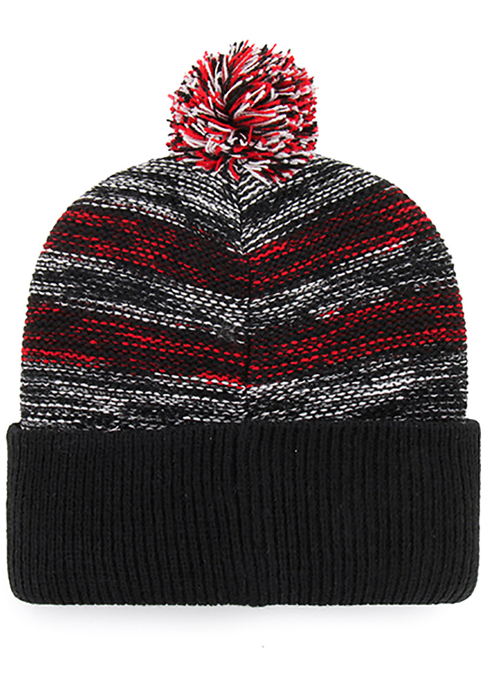 47 Detroit Red Wings Black Sideboard Cuff Knit Mens Knit Hat - Image 2