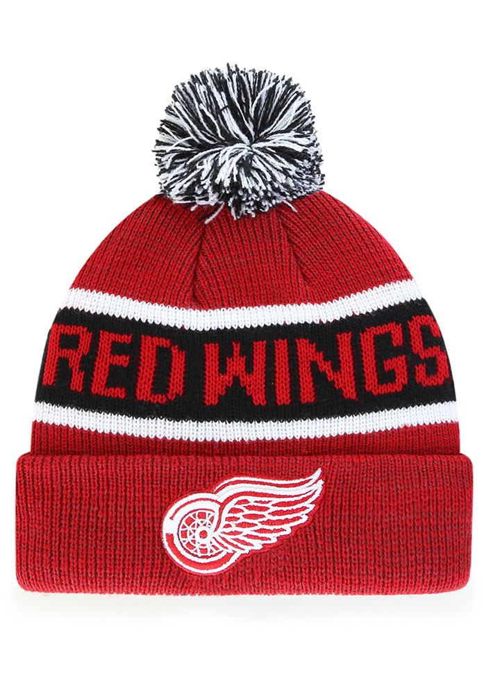 '47 Detroit Red Wings Red Tadpole Cuff Knit Youth Knit Hat - Image 1