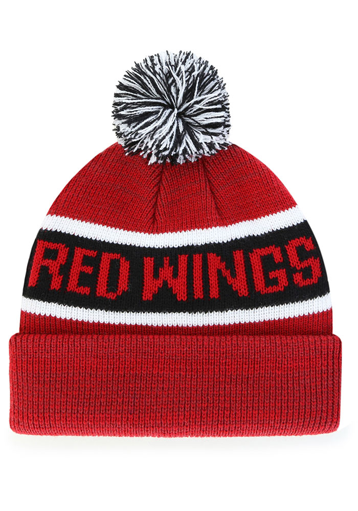'47 Detroit Red Wings Red Tadpole Cuff Knit Youth Knit Hat - Image 2