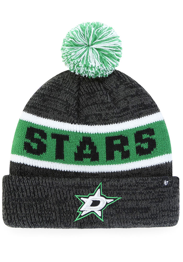 '47 Dallas Stars Black Tadpole Cuff Knit Youth Knit Hat - Image 1
