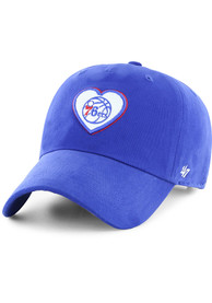 47 Philadelphia 76ers Womens Blue Courtney Clean Up Adjustable Hat