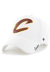 47 Cleveland Cavaliers Womens White Sparkle Clean Up Adjustable Hat