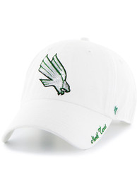 47 North Texas Mean Green Womens White Sparkle Clean Up Adjustable Hat