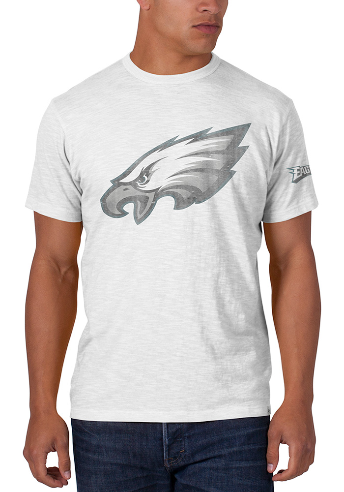 47 Philadelphia Eagles White Scrum Short Sleeve Fashion T Shirt - Image 1