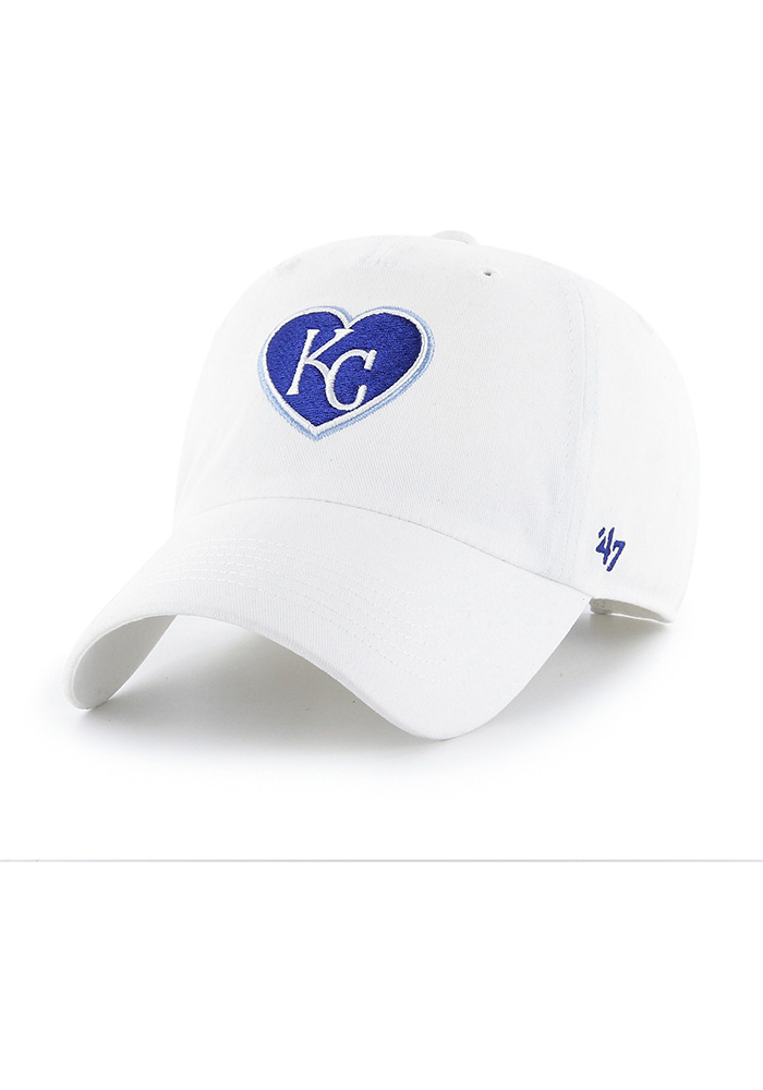 2644c810eef  47 Kansas City Royals Womens White Courtney W Clean Up Adjustable Hat