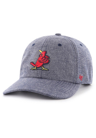 12319995713  47 St Louis Cardinals Navy Blue Emery Clean Up MF Adjustable Hat