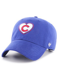 47 Chicago Cubs Womens Blue Courtney W Clean Up Adjustable Hat