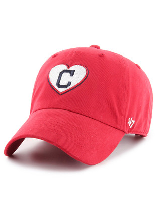 47 Cleveland Indians Womens Red Courtney W Clean Up Adjustable Hat 6eab9f88a
