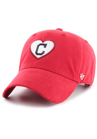 47 Cleveland Indians Womens Red Courtney W Clean Up Adjustable Hat