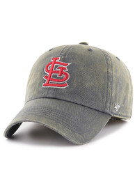 info for 5a75a fcd18 St Louis Cardinals  47 Navy Blue Cement Franchise Fitted Hat