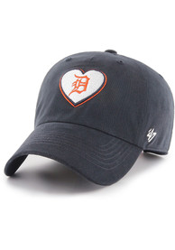 47 Detroit Tigers Womens Navy Blue Courtney W Clean Up Adjustable Hat