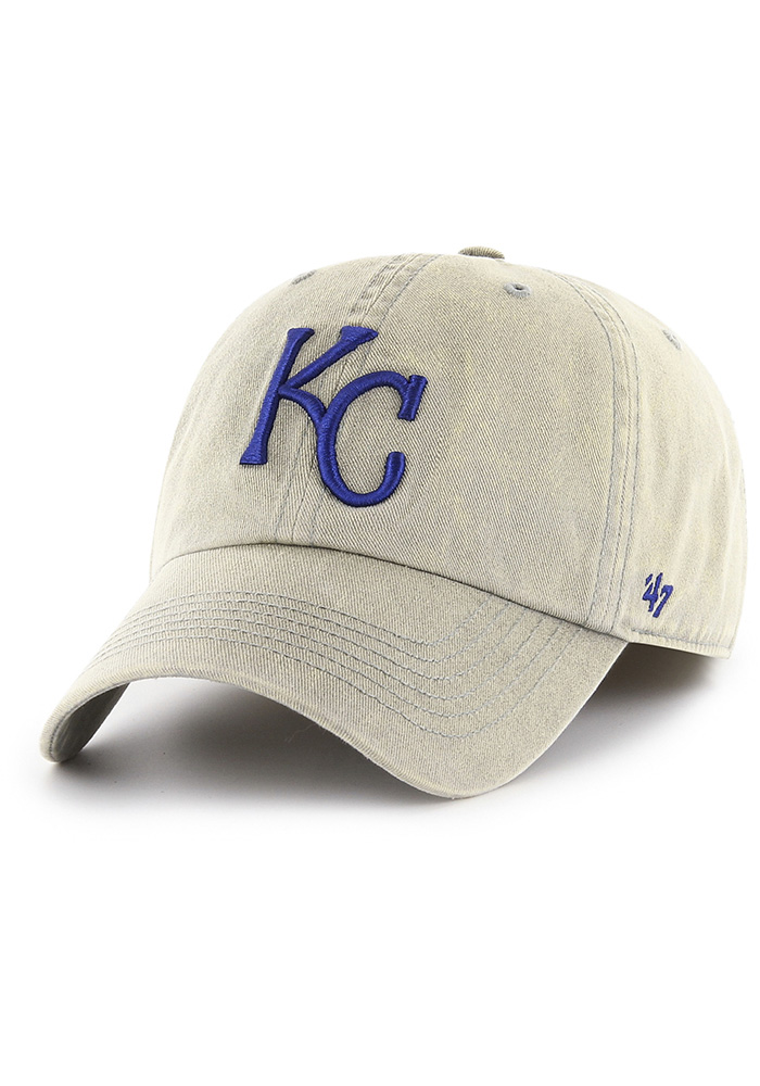 '47 Kansas City Royals Mens Grey Cement Franchise Fitted Hat - Image 1