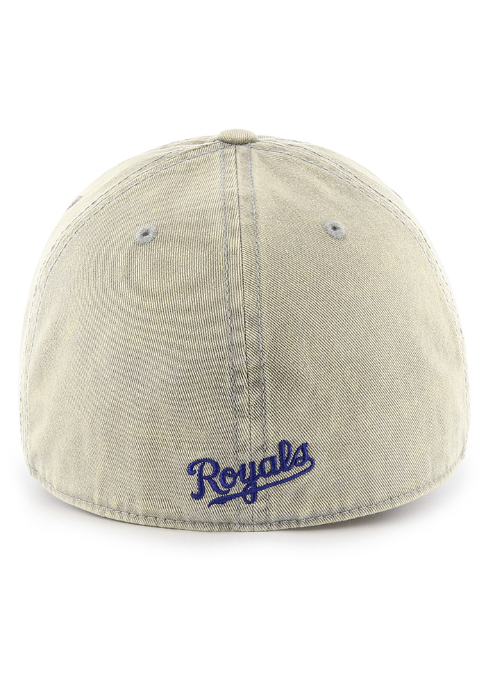'47 Kansas City Royals Mens Grey Cement Franchise Fitted Hat - Image 2