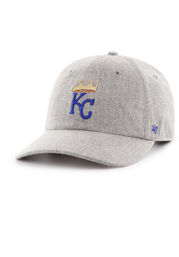 '47 Kansas City Royals Emery Clean Up MF Adjustable Hat - Grey - Image 1