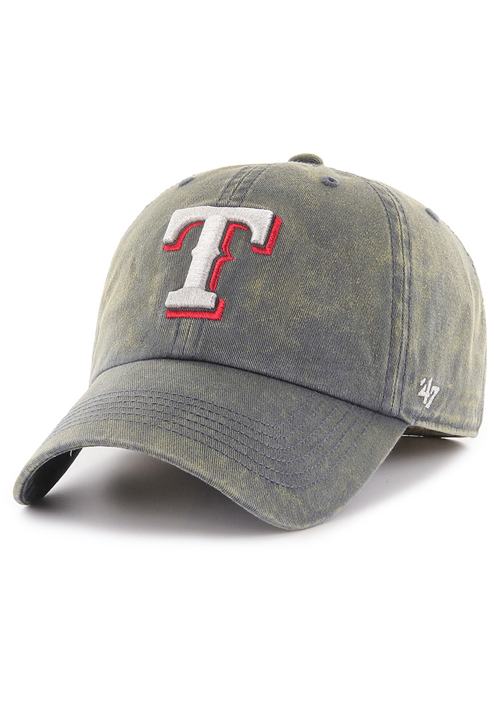 47 Texas Rangers Mens Navy Blue Cement Franchise Fitted Hat - Image 1