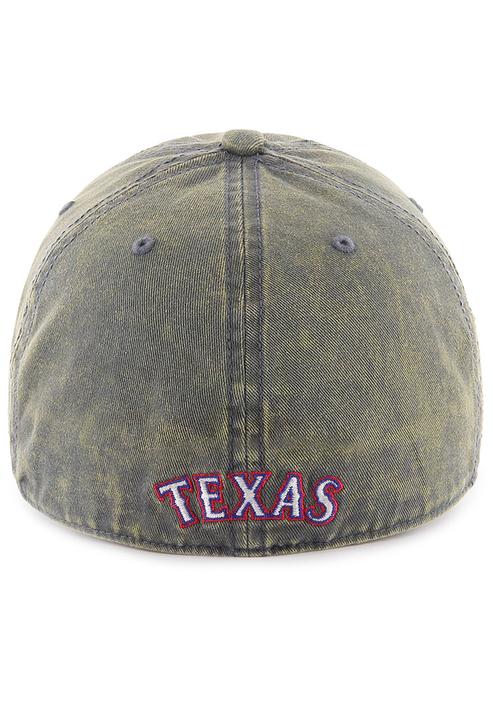 47 Texas Rangers Mens Navy Blue Cement Franchise Fitted Hat - Image 2