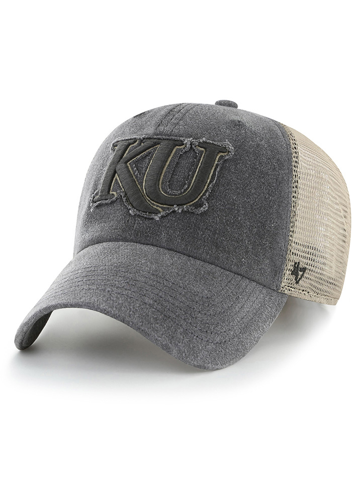 47 Kansas Jayhawks Black Burnstead Closer Flex Hat a4264b8b53e1