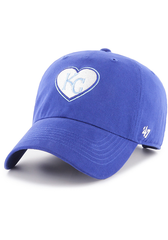 '47 Kansas City Royals Blue Courtney W Clean Up Womens Adjustable Hat - Image 1