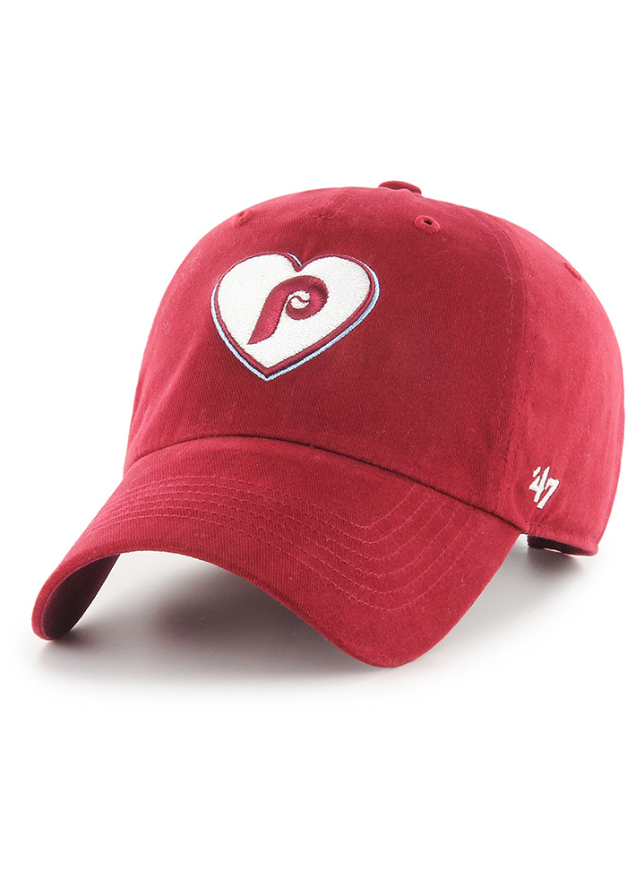 '47 Philadelphia Phillies Maroon Courtney W Clean Up Womens Adjustable Hat - Image 1