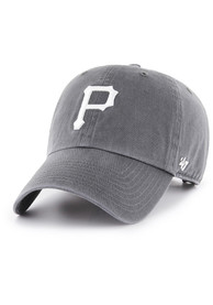 47 Pittsburgh Pirates Clean Up Adjustable Hat - Charcoal