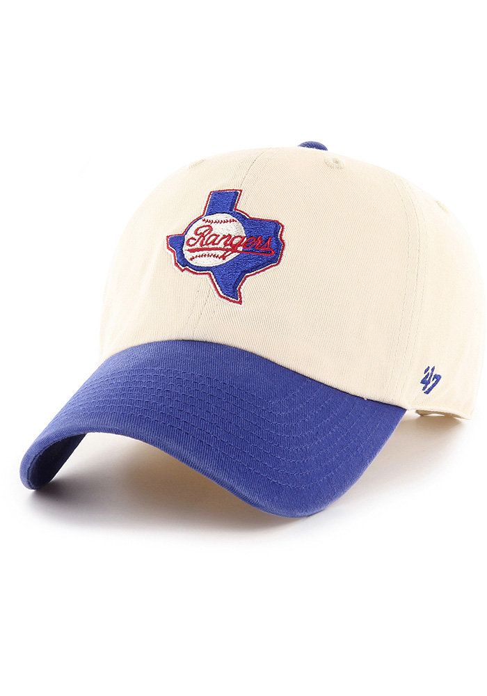 47 Texas Rangers Cooperstown Two Tone Clean Up Adjustable Hat - Natural - Image 1