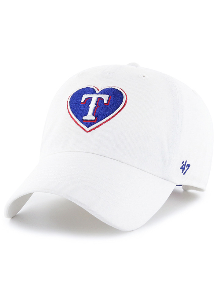 47 Texas Rangers White Courtney W Clean Up Womens Adjustable Hat - Image 1