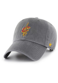 0daf9359400f3  47 Cleveland Cavaliers Grey Clean Up Adjustable Hat