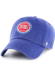 47 Detroit Pistons Clean Up Adjustable Hat - Blue
