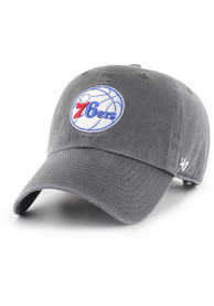 47 Philadelphia 76ers Clean Up Adjustable Hat - Charcoal