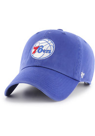 Philadelphia 76ers 47 Clean Up Adjustable Hat - Blue