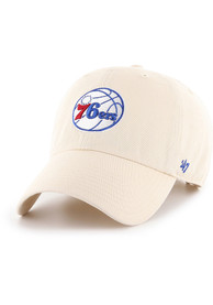 Philadelphia 76ers 47 Clean Up Adjustable Hat - Natural