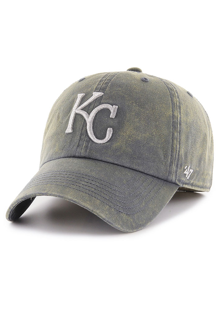 '47 Kansas City Royals Mens Navy Blue Cement Franchise Fitted Hat - Image 1