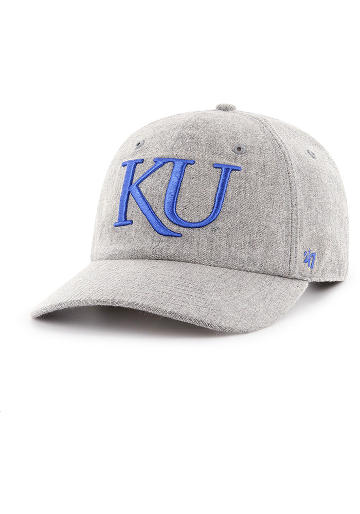 47 Kansas Jayhawks Emery Clean Up MF Adjustable Hat - Grey - Image 1