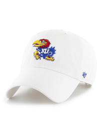 Kansas Jayhawks 47 Clean Up Adjustable Hat - White
