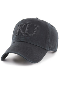 Kansas Jayhawks 47 Clean Up Adjustable Hat - Black