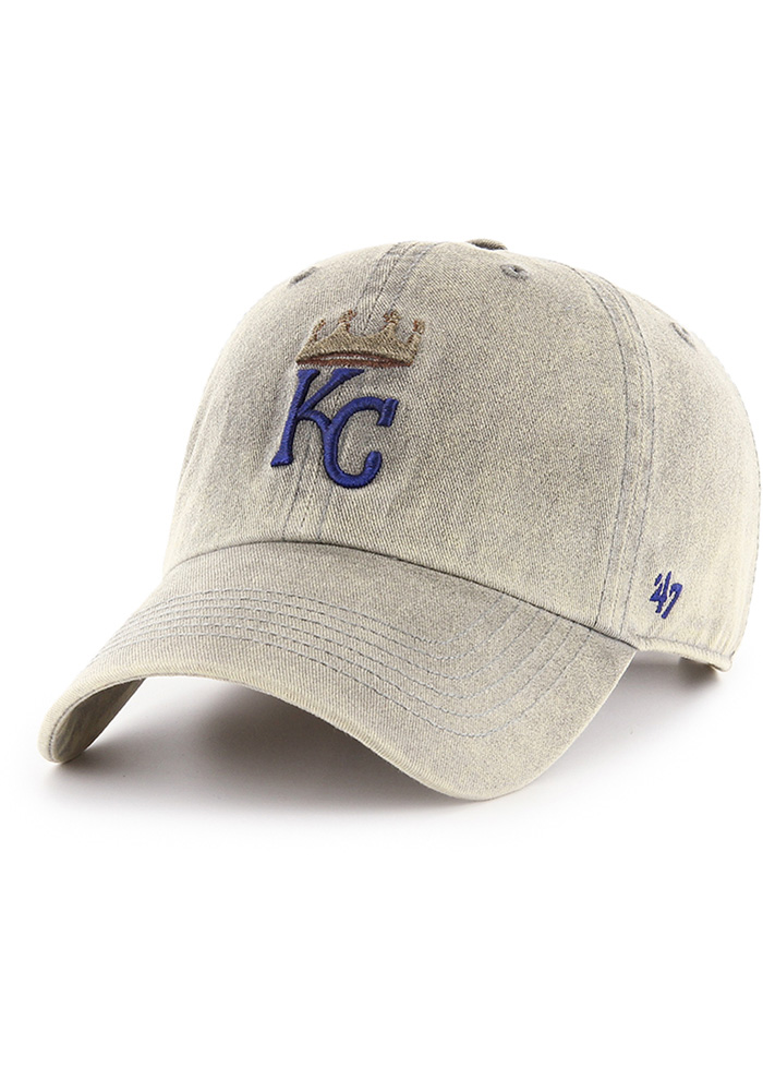 47 Kansas City Royals Cement Clean Up Adjustable Hat - Grey - Image 1