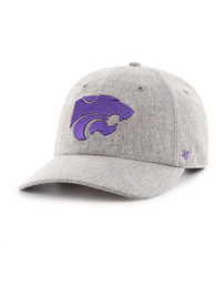 47 K-State Wildcats Emery Clean Up MF Adjustable Hat - Grey